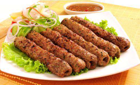 seekh kabab plate