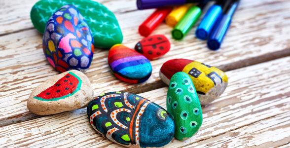 Club Mahindra - Stone Painting