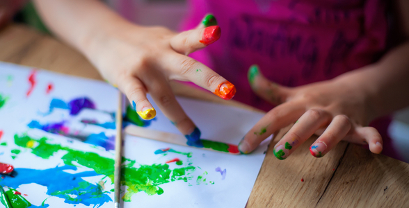 Kids Activities - Delight in Thumb- painting