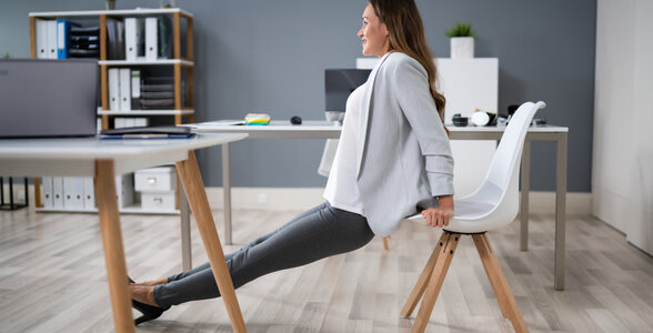 Work-life Balance - Exercise at your desk