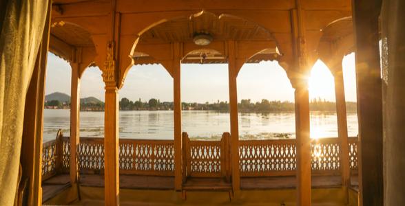 Houseboat on Dal lake in Srinagar