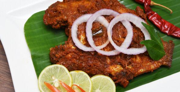 Kerala Cuisine - Karimeen Pollichathu