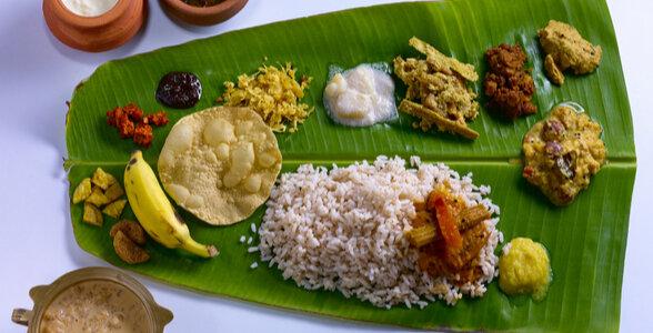 Kerala Cuisine - Ela Sadya