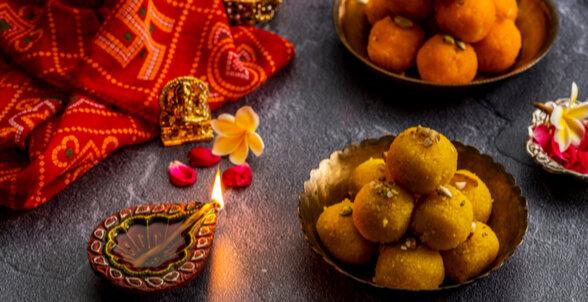 Maharashtrian Dishes - Boondi and Besan Laddoo