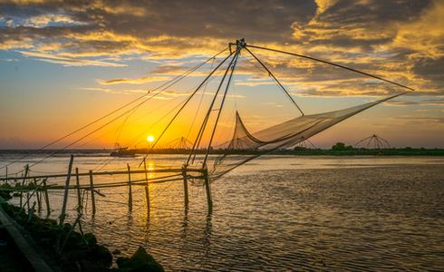 Chinese Fishing Nets at Cherai