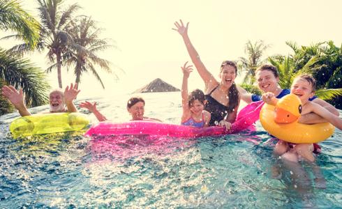 Family enjoying at resort