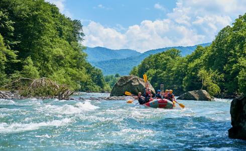 River Rafting In Corbett