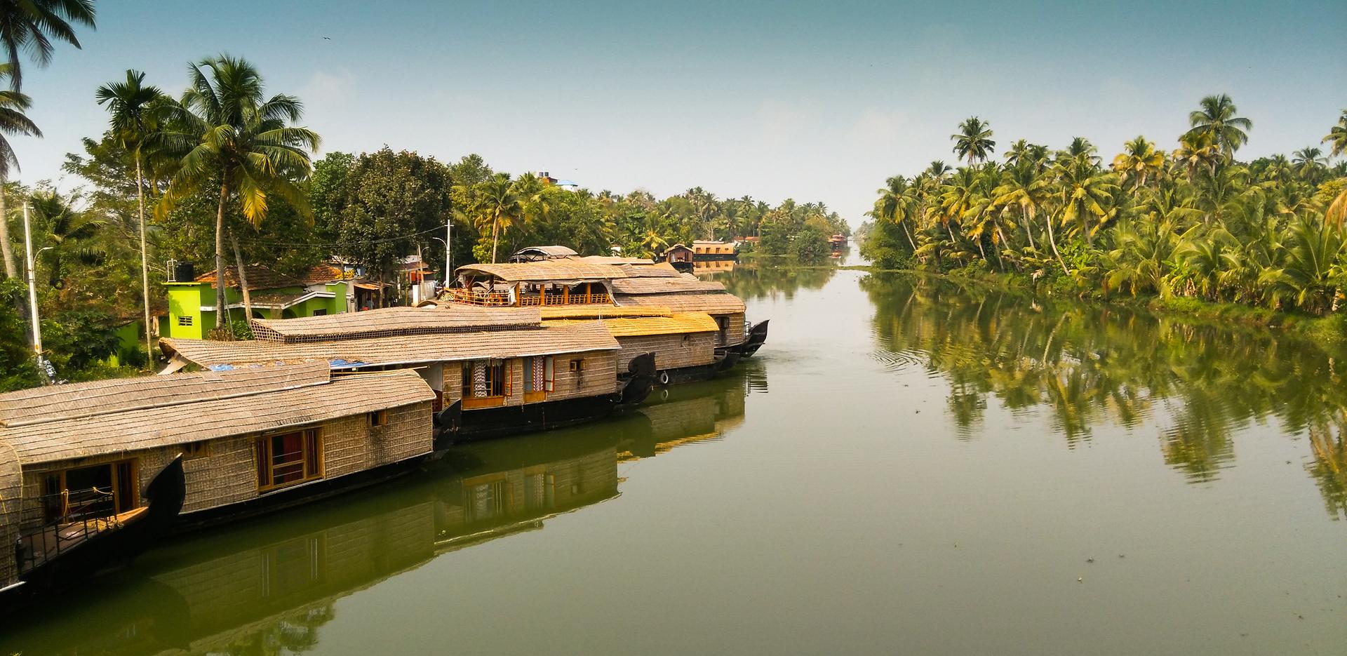 house boats at Kumarakom