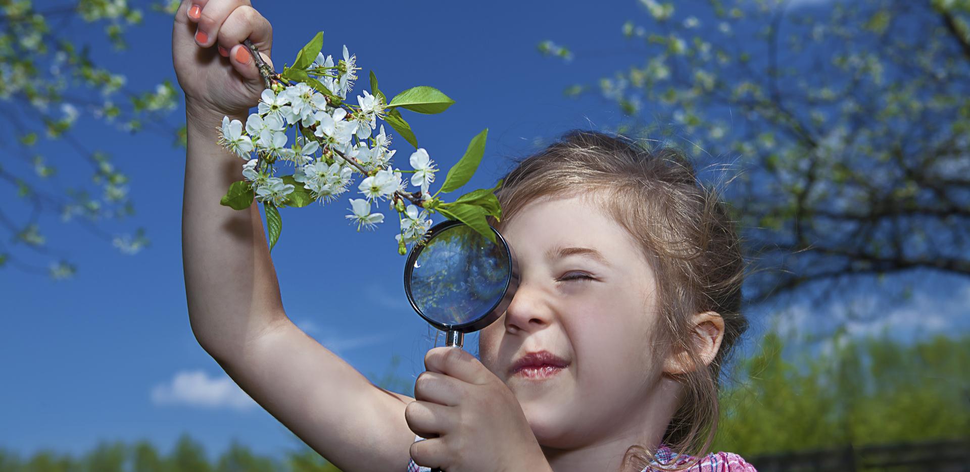 Children experiencing nature