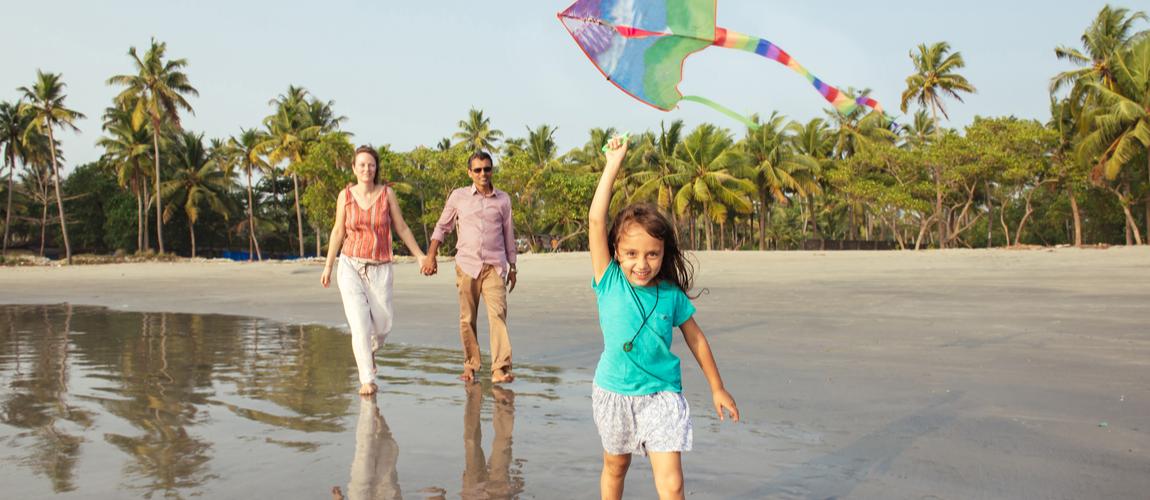 family enjoying vacation