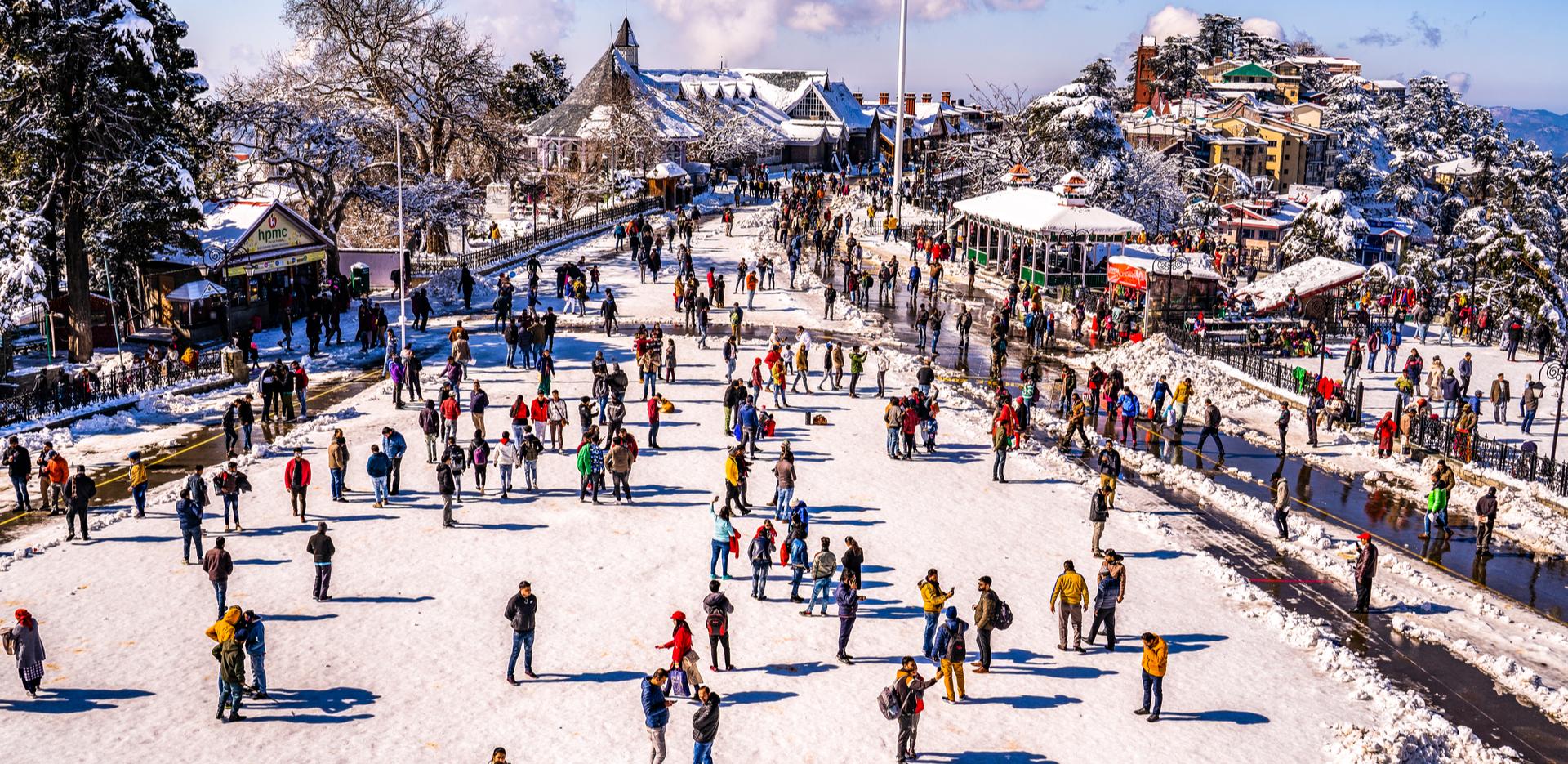 Beautiful View of Shimla City