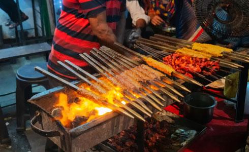 Spicy Chicken Seekh Kababs