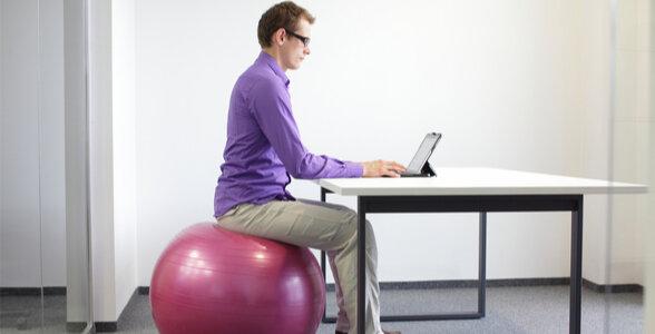 Work-life Balance - stability ball