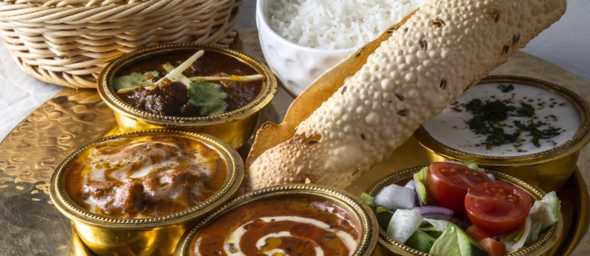 royal traditional indian thali