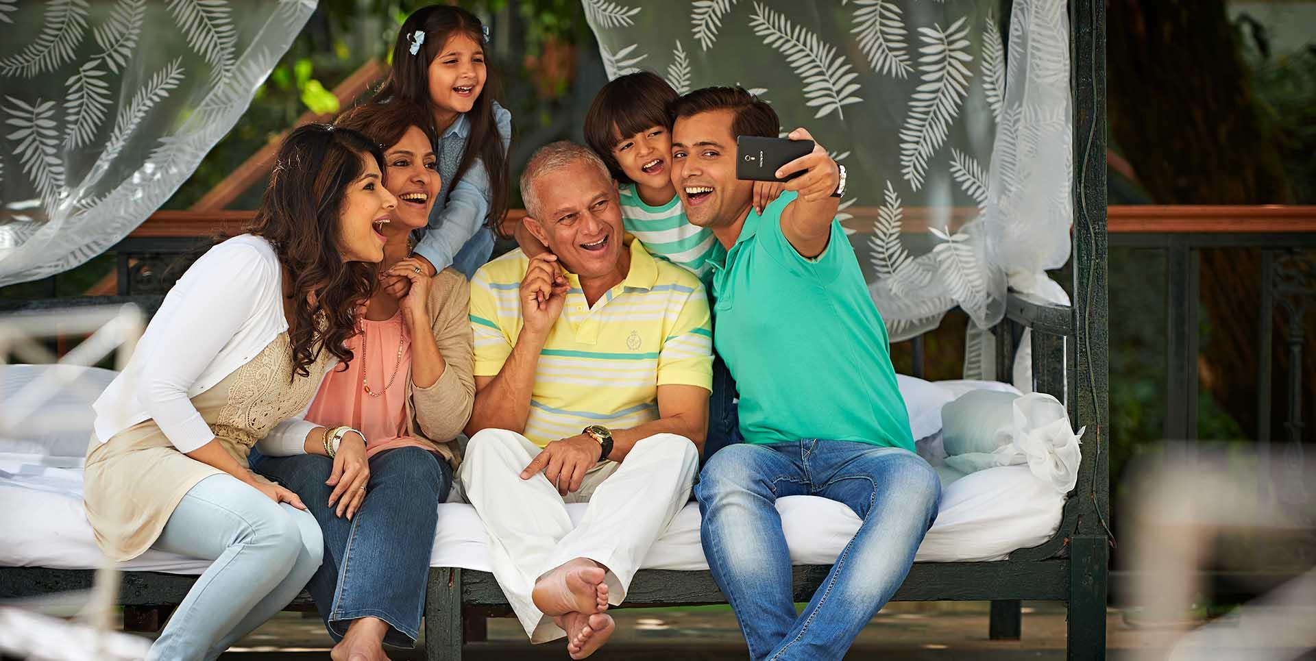 Family Enjoying Vacations